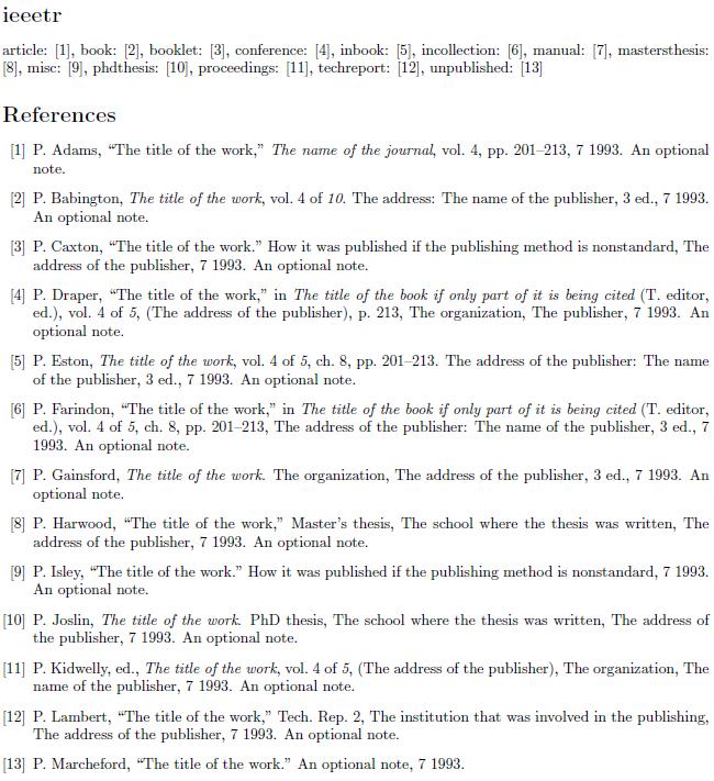 bibtex bibliographystyle dissertation